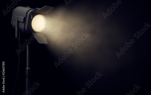 Photo Stands Light, shadow Stage spotlight in dark background
