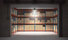 Self Storage Unit Full Of Card...