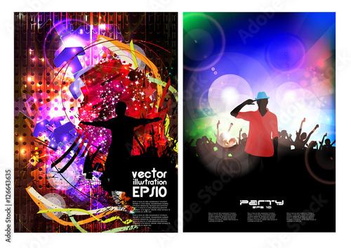 Fototapeta Poster of new year party. Vector illustration  obraz na płótnie