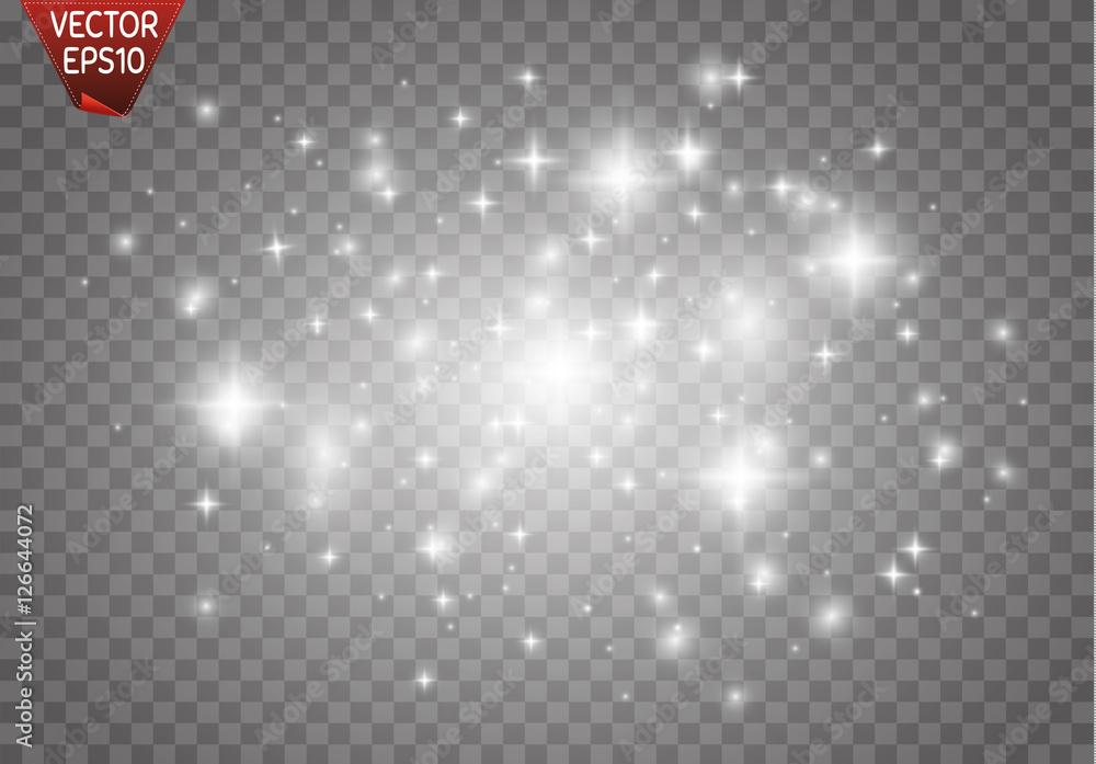 Fototapety, obrazy: Glow light effect. Vector illustration. Christmas flash Concept.
