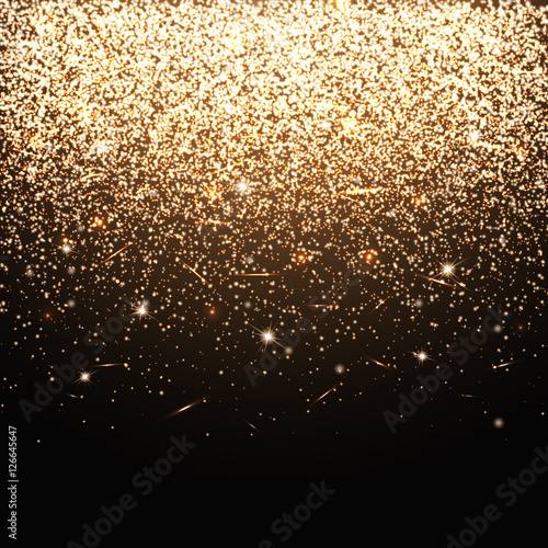 christmas lights sparks vector gold bokeh illustration of a dark