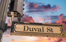 Duval Street Sign In Key West
