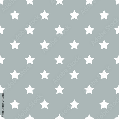 Cotton fabric Seamless stars pattern vector