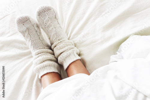 Cozy socks Canvas-taulu
