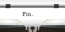 Machine à écrire - écrivain - Fin