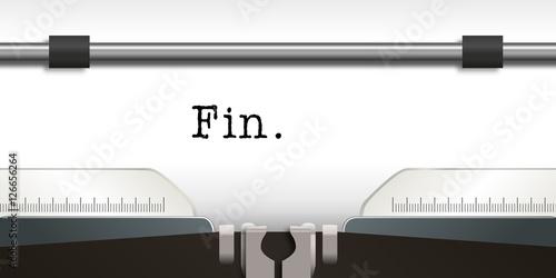 Fotografiet Machine à écrire - écrivain - Fin