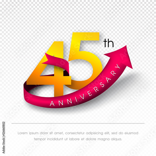 Photographie  Anniversary emblems template design.