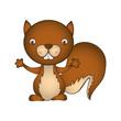 squirrel animal cartoon icon image vector illustration design