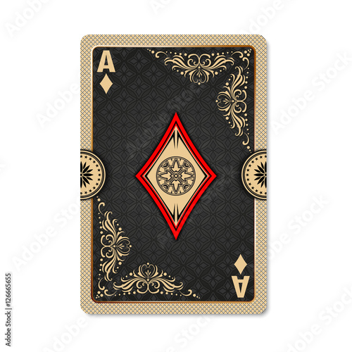Ace Of Diamonds Playing Card Vintage Style Casino And Poker Ace