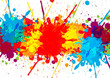 splatter colorful with paint stains background, vector abstrac