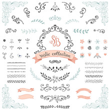 Hand Drawn Rustic Design Collection.