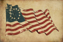 USA Betsy Ross Grunge Flag Tex...