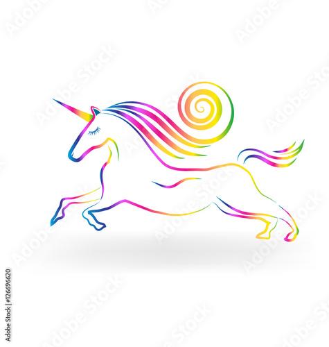 Poster Pony Unicorn horse rainbow logo