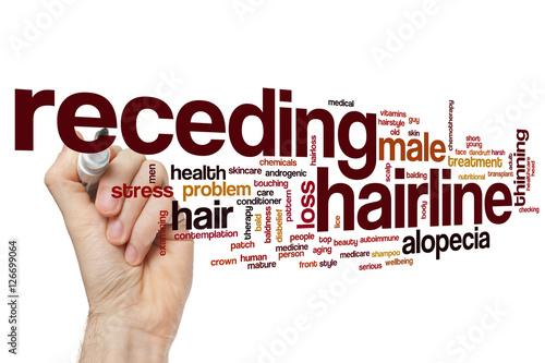 Fotografia, Obraz  Receding hairline word cloud