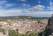 Sagunto town from the roman castle fortification near Valencia Spain Panorama view