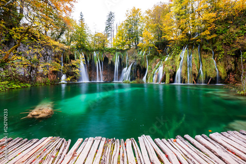 Poster Landscapes Waterfalls of Plitvice National Park