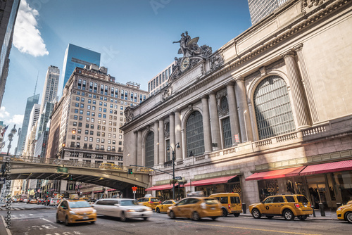Grand Central Terminal with traffic, New York City Fototapet