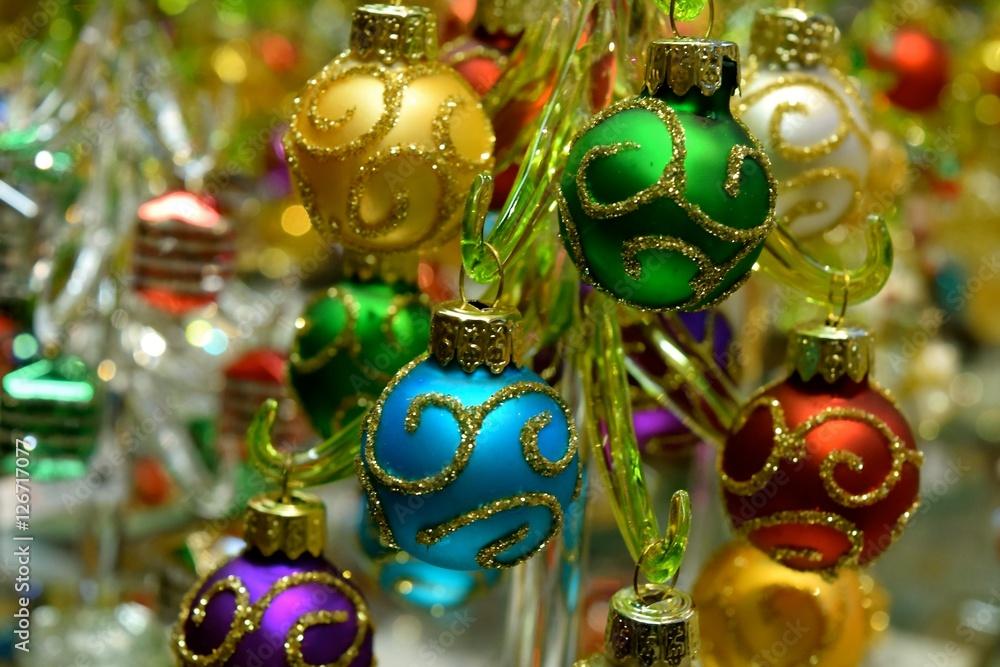 Miniature Christmas Ornaments.Photo Art Print Mini Ornaments Miniature Christmas
