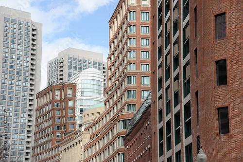 Fotografía  Boston downtown skyscrapers