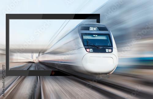 Plakat pociąg ekspresowy