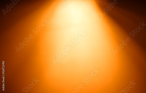 obraz lub plakat Top orange ray of light bokeh background