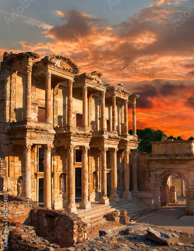Celsus Library in Ephesus, Turkey Wallpaper Mural