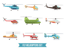 Flying Helicopters Set