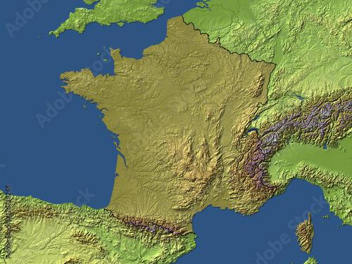 La Cartina Geografica Della Svizzera.Cartina Geografica Della Francia Con Rilievi Stock Illustration Adobe Stock