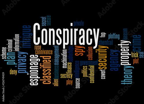Fotografie, Obraz  Conspiracy, word cloud concept 7