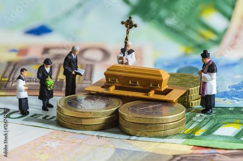 Euro, Beerdigung Fototapete
