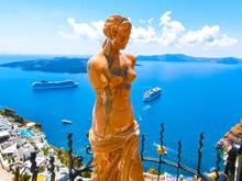 Santorini, Greece - Statue Of Aphrodite