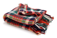 Checked Blanket Isolated On Wh...