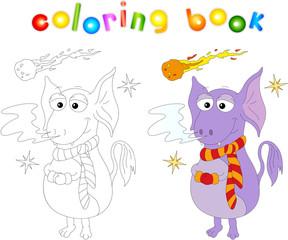Obraz na płótnie Canvas Funny cartoon alien