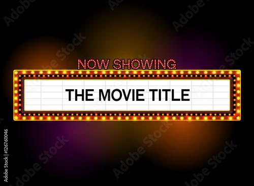 theater sign,cinema sign,light sign,frame light – kaufen Sie diese ...