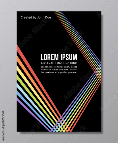 Fotografia  abstract trendy vector background. gay pride poster design in 90