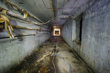 Spooky Underground Tunnel With...