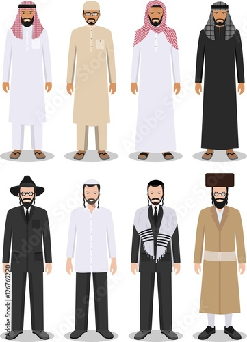 What traditonal clothes did Muslim people wear?