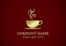 Coffee Cup Gold Logo