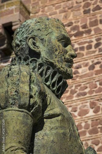 Fotografie, Obraz  Estatua de Miguel de Cervantes (Alcázar de San Juan)