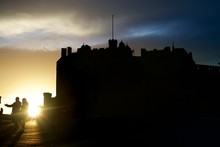 Edinburgh Castle Silhouette