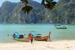 Loh samah bay at phiphi island, krabi Thailand.