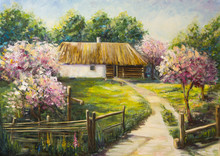 Art Oil-Painting Picture Bloom...