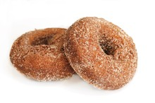 Apple Cider Donuts Isolated On White