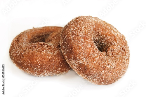 Photo  Apple cider donuts isolated on white