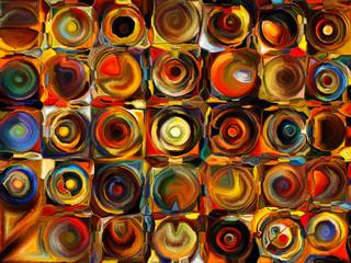 Panel Szklany Współczesny Game of Hues