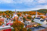Fototapeta City - Montpelier, Vermont, USA town Skyline.
