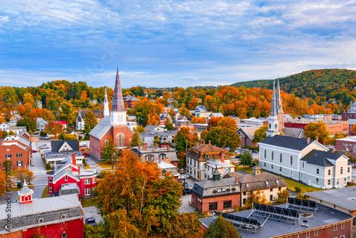 Slika na platnu Montpelier, Vermont, USA town Skyline.