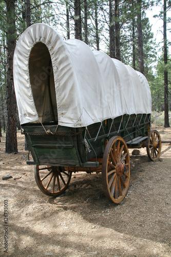 Fotobehang Indiërs Covered wagon