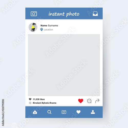 Fototapeta Photo application template obraz na płótnie