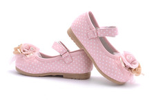Baby Pink Shoes Isolated On White